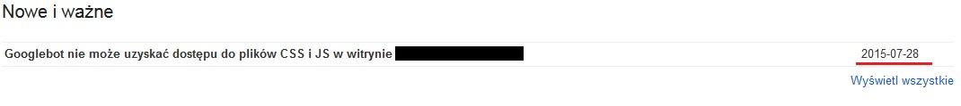 Googlebot nie może uzyskać dostępu do plików CSS i JS w witrynie