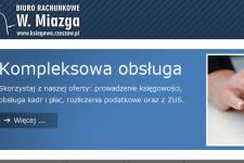 Projekt strony oraz logo dla biura rachunkowego